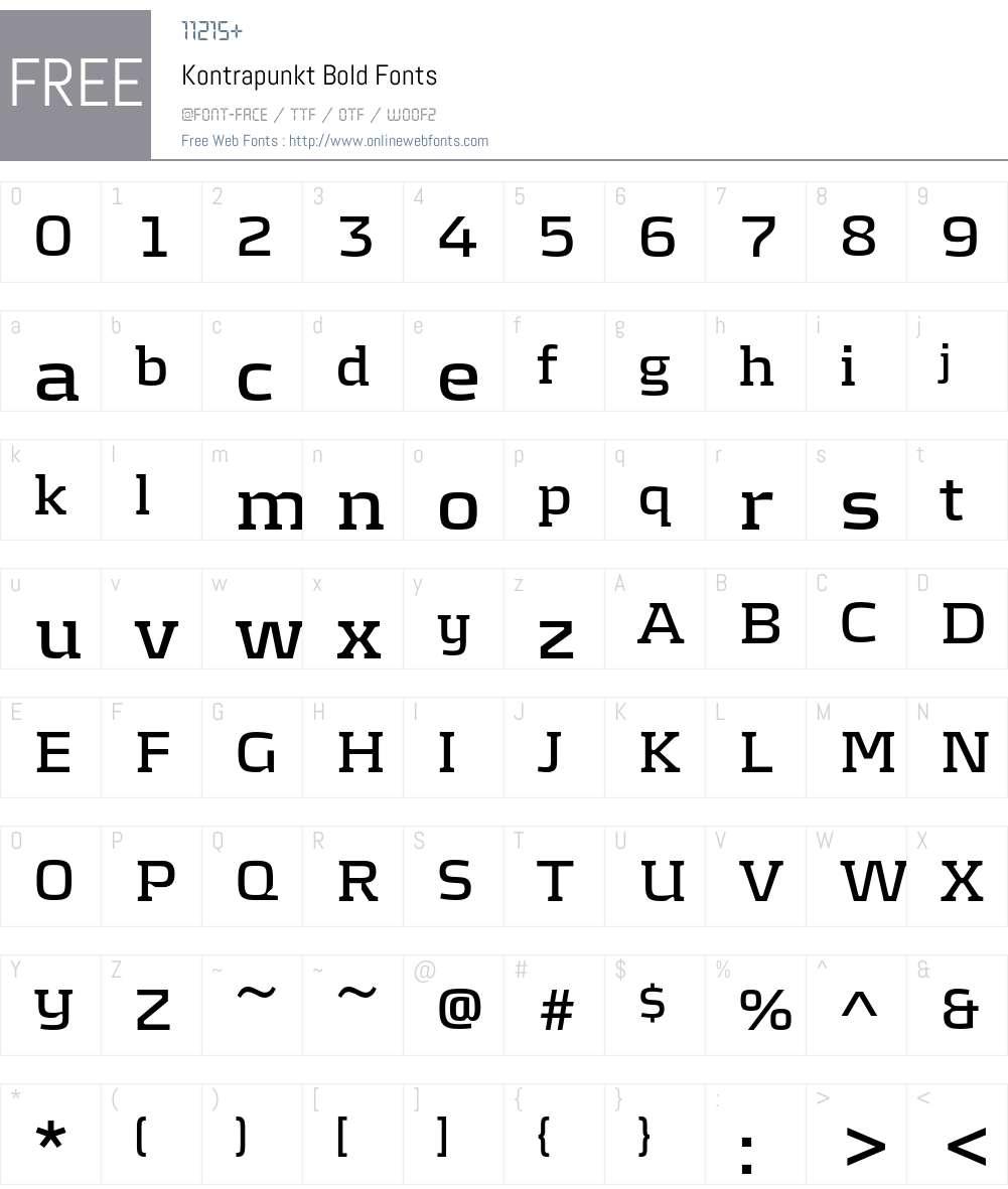 Kontrapunkt Font Screenshots