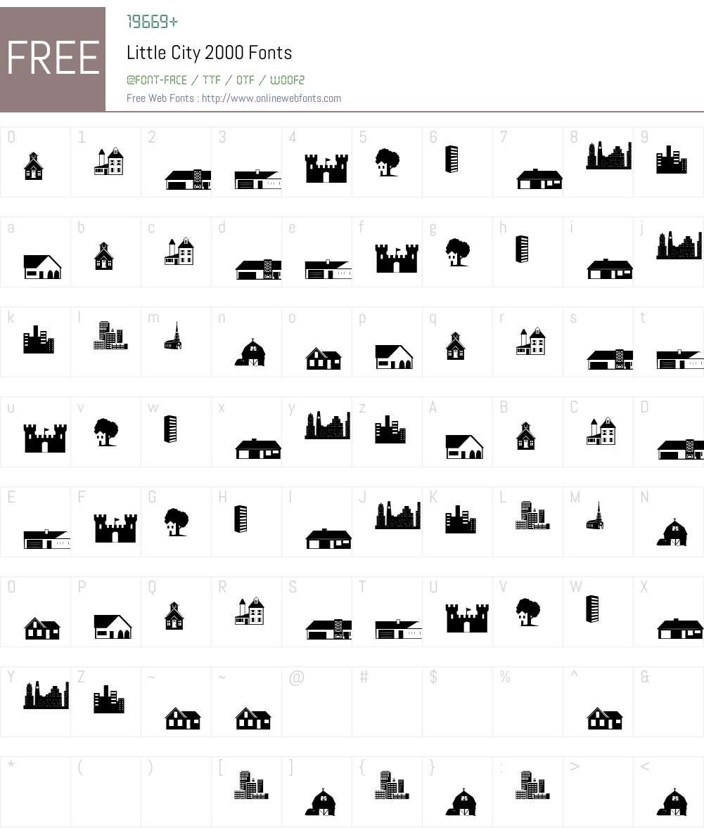 Little City 2000 Font Screenshots