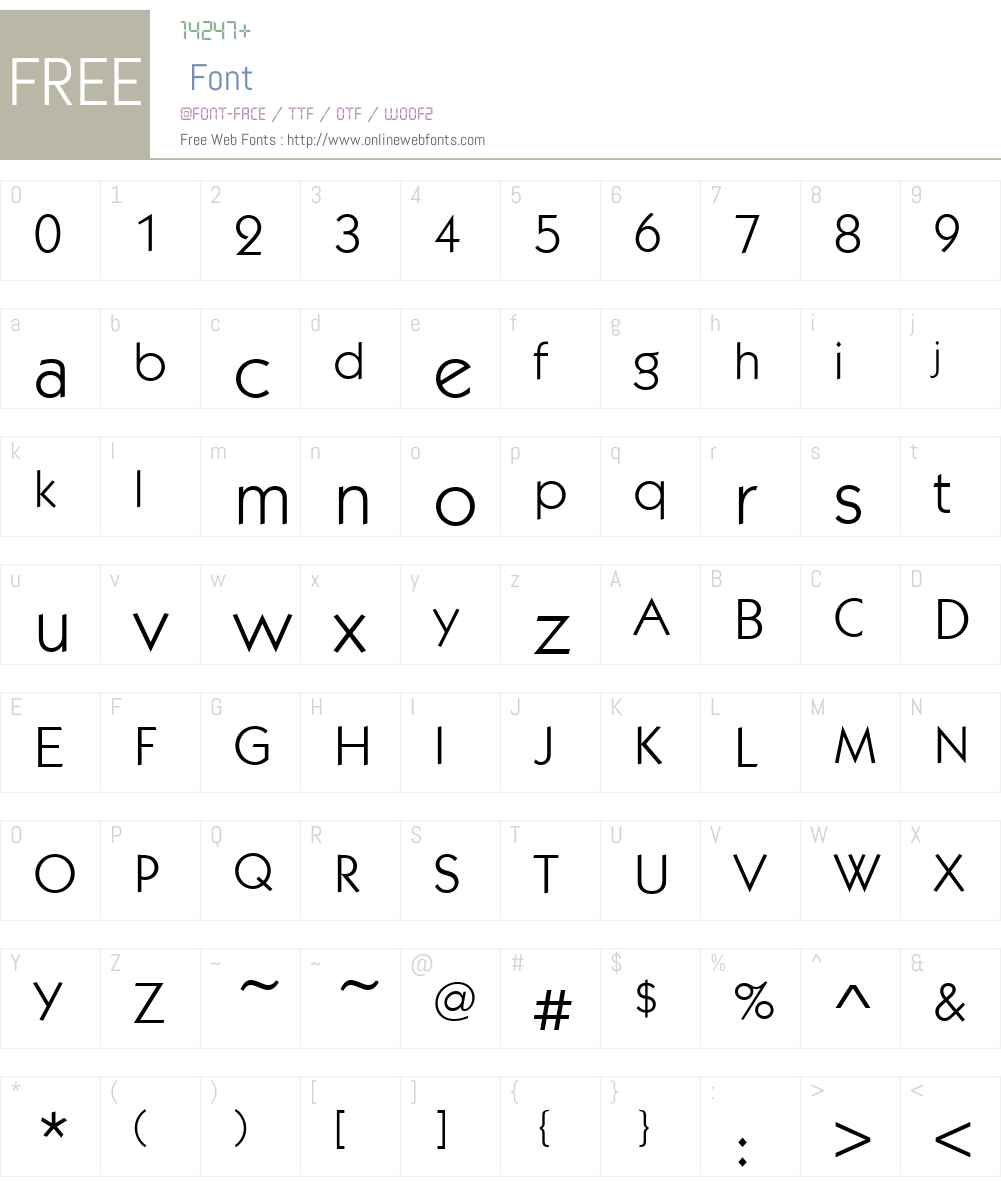 KabelItcTEE Font Screenshots