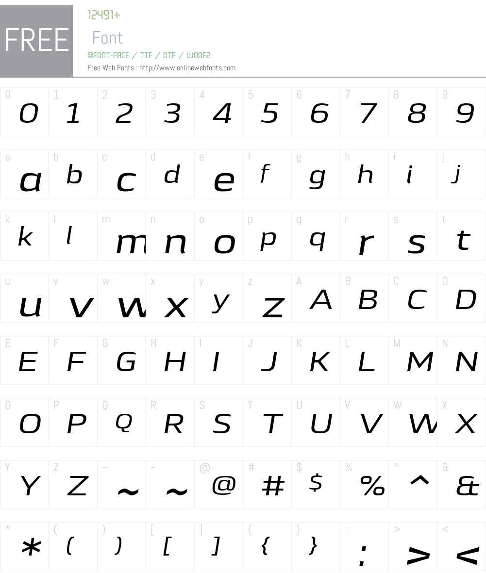 LytigaW01-ExtendedMediumIt Font Screenshots