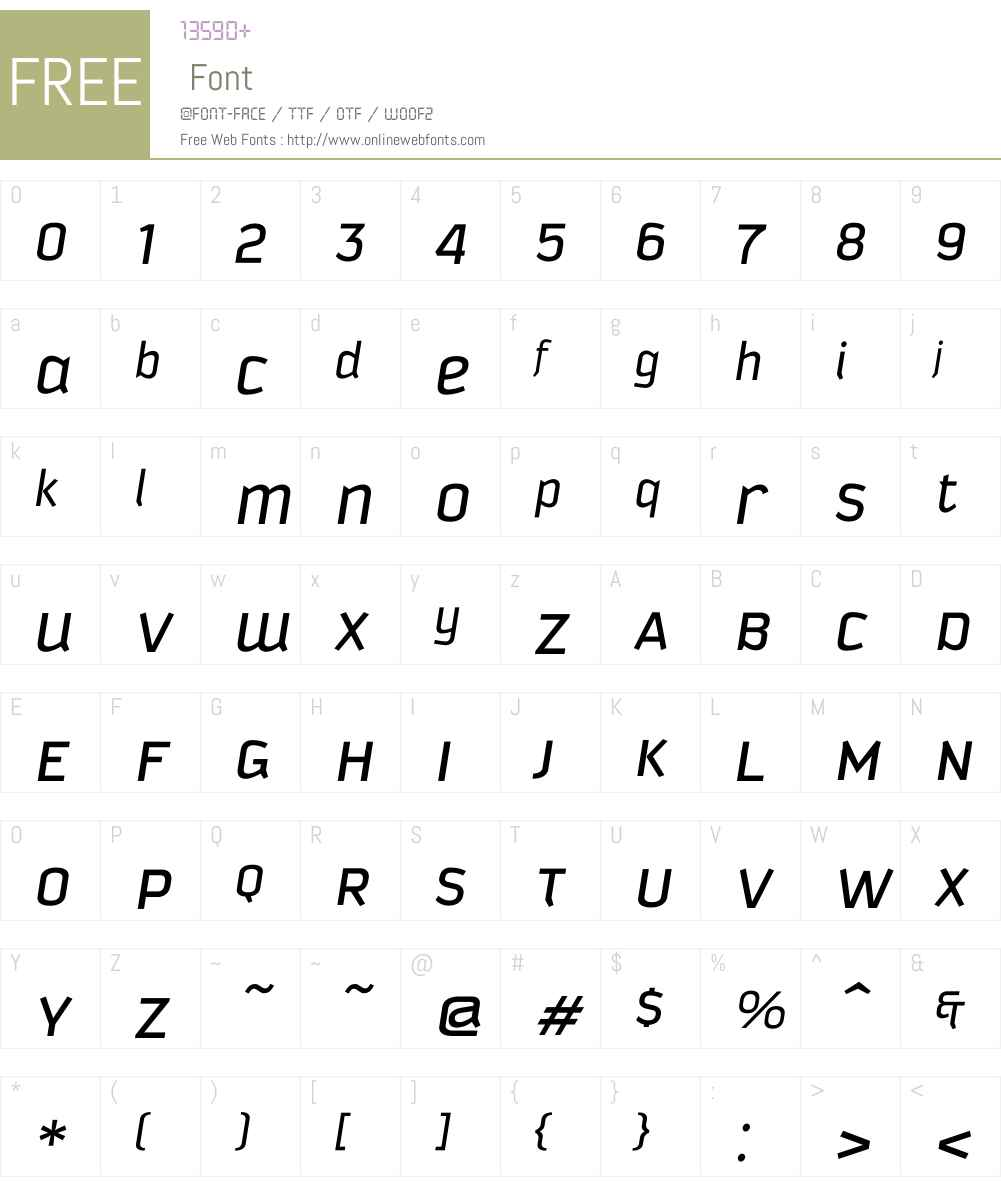 KautivaUni Font Screenshots