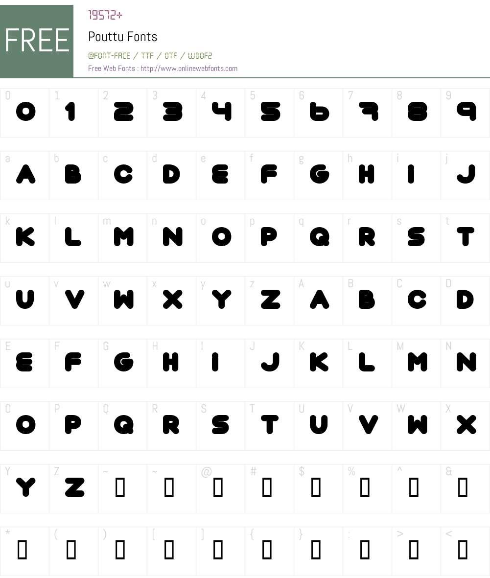 Pouttu Font Screenshots