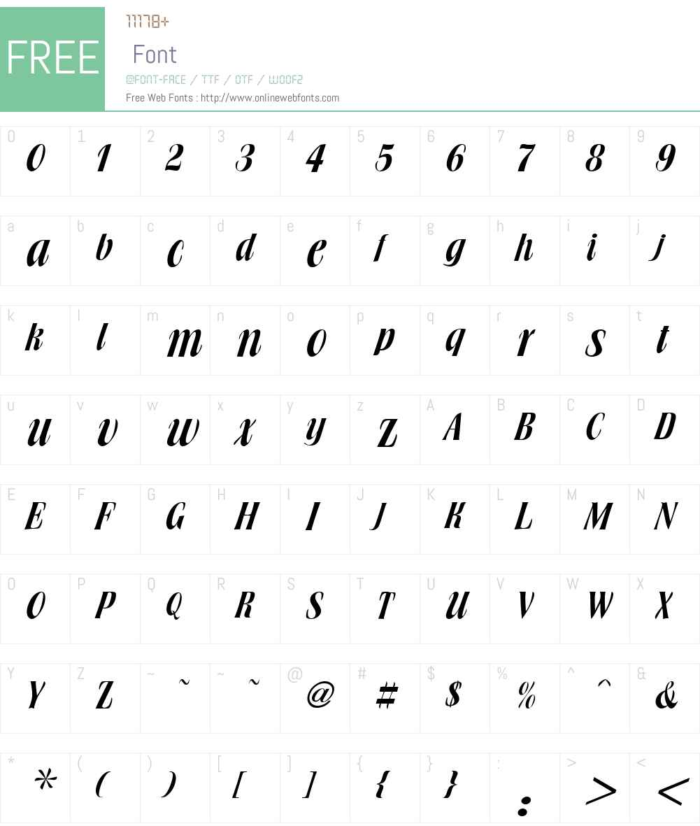 Broach Font Screenshots