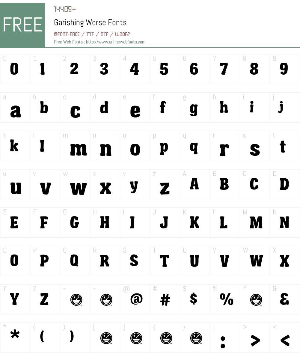 Garishing Worse Font Screenshots