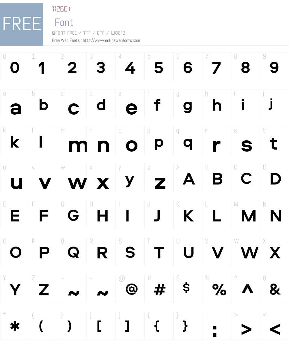 Aeroport Font Screenshots