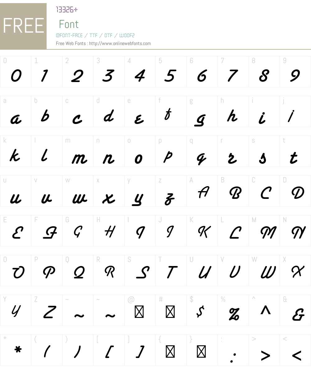 Santa Fe Std Font Screenshots