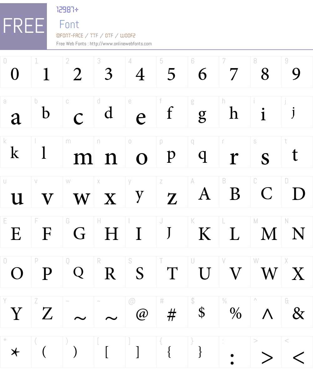 Minion Pro Med Font Screenshots