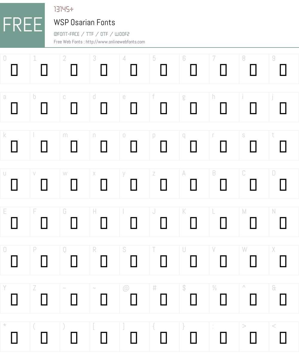 WSP Osarian Font Screenshots