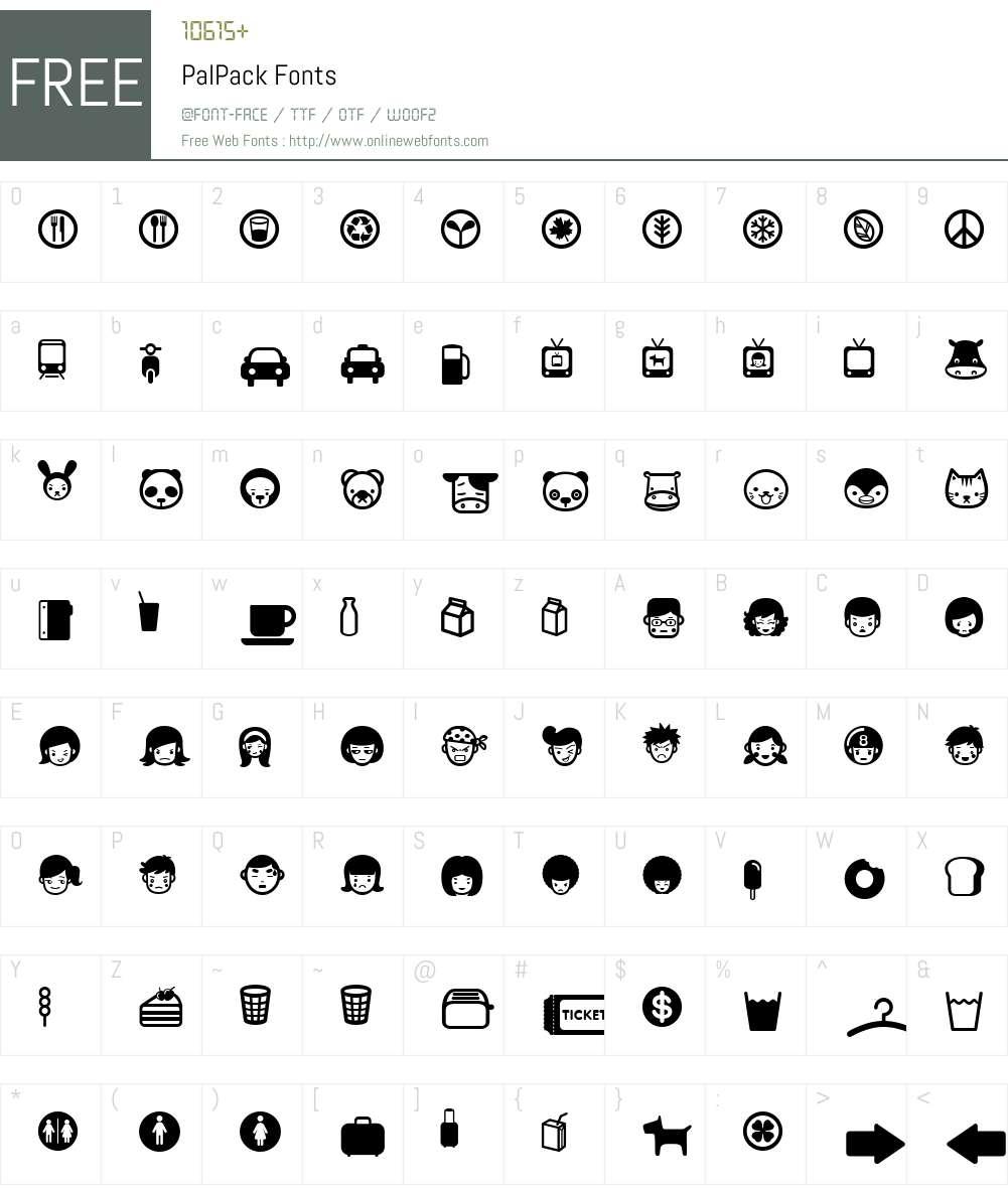 PalPack Font Screenshots