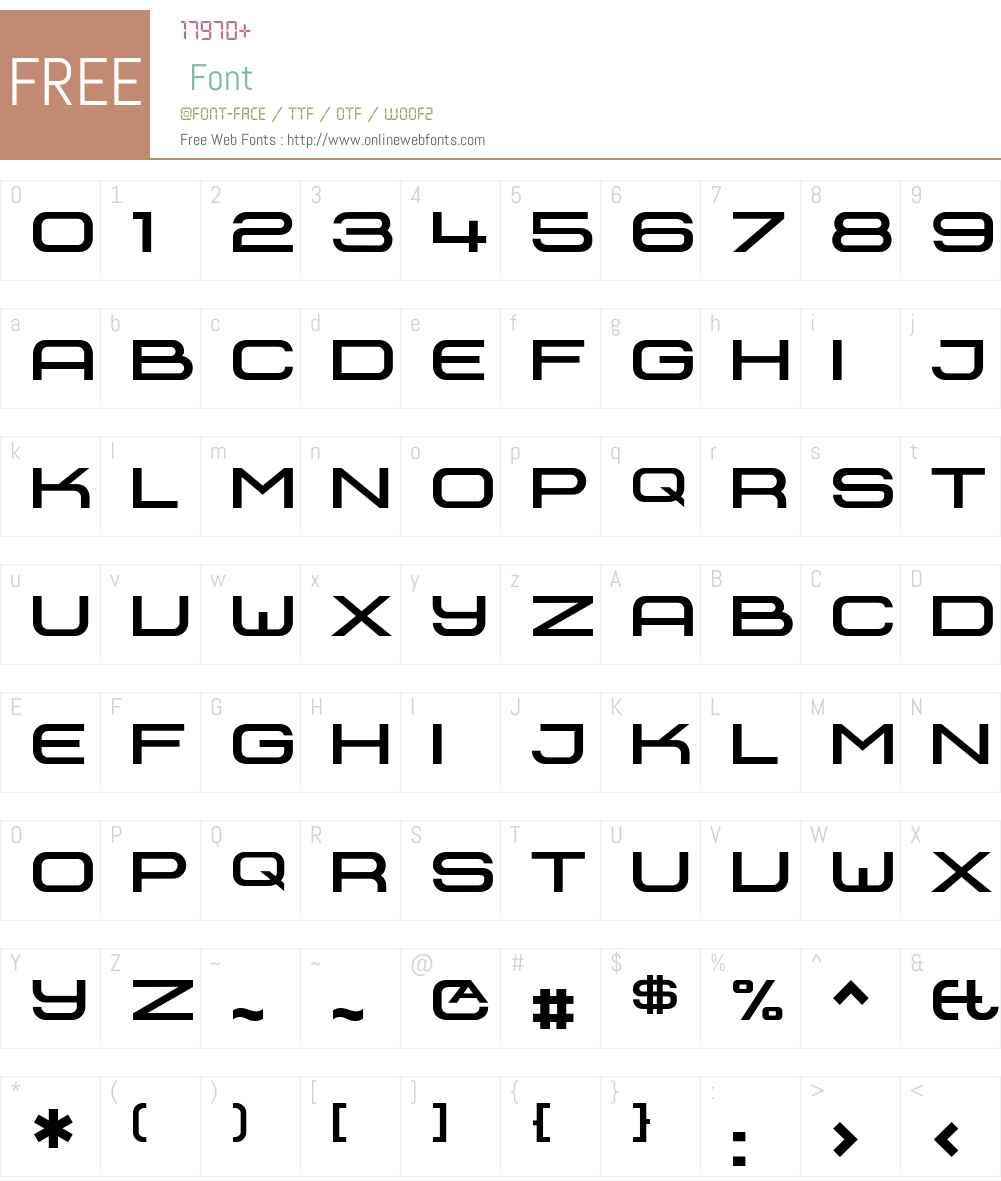 SheffieldExtendedBold Font Screenshots