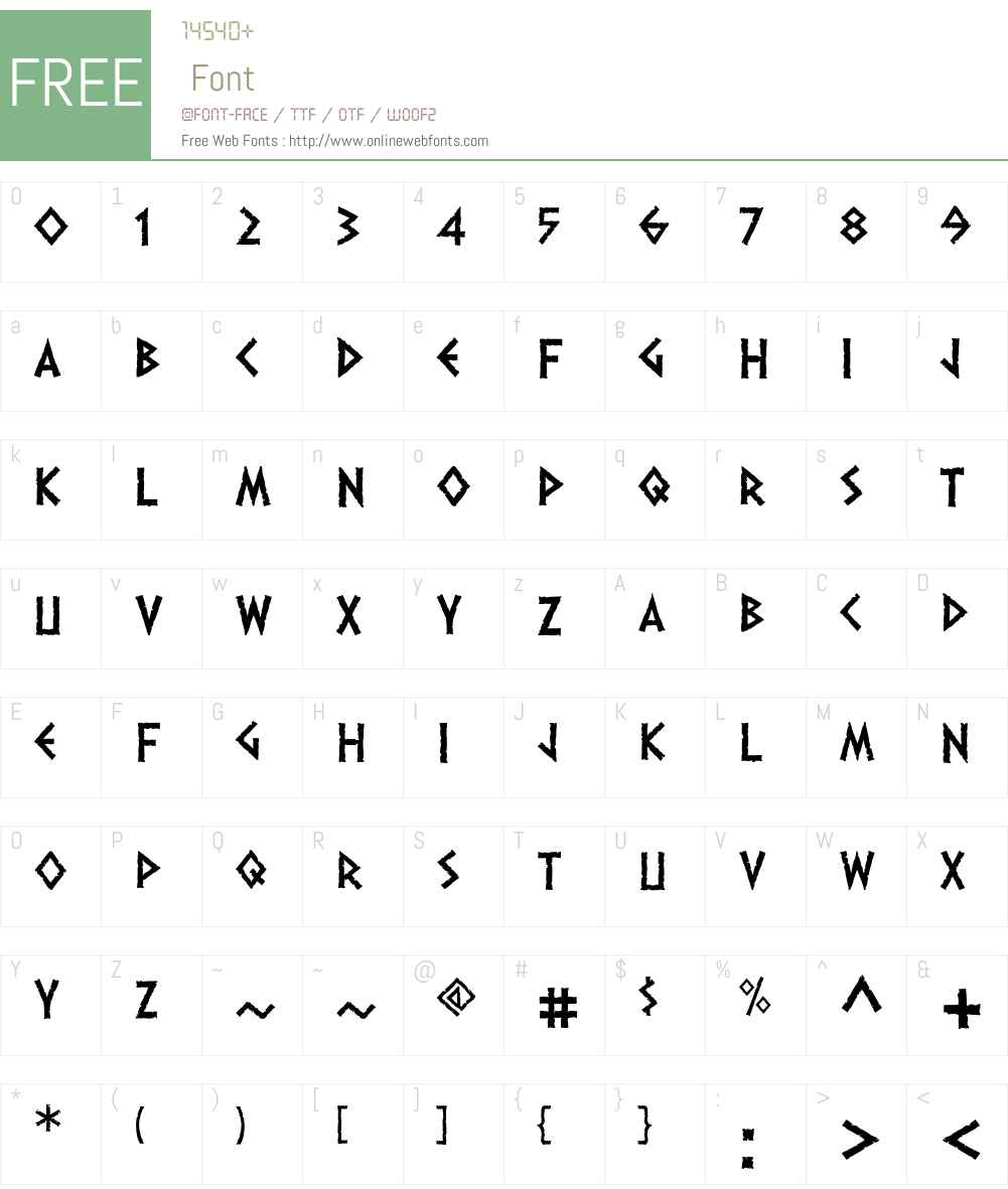 Dalek Font Screenshots