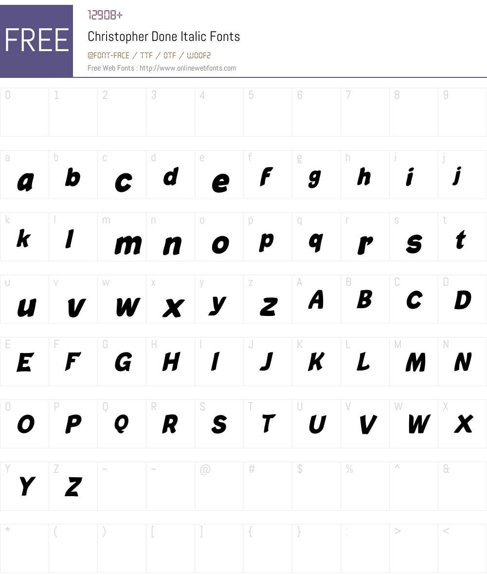 Christopher Done Italic Font Screenshots