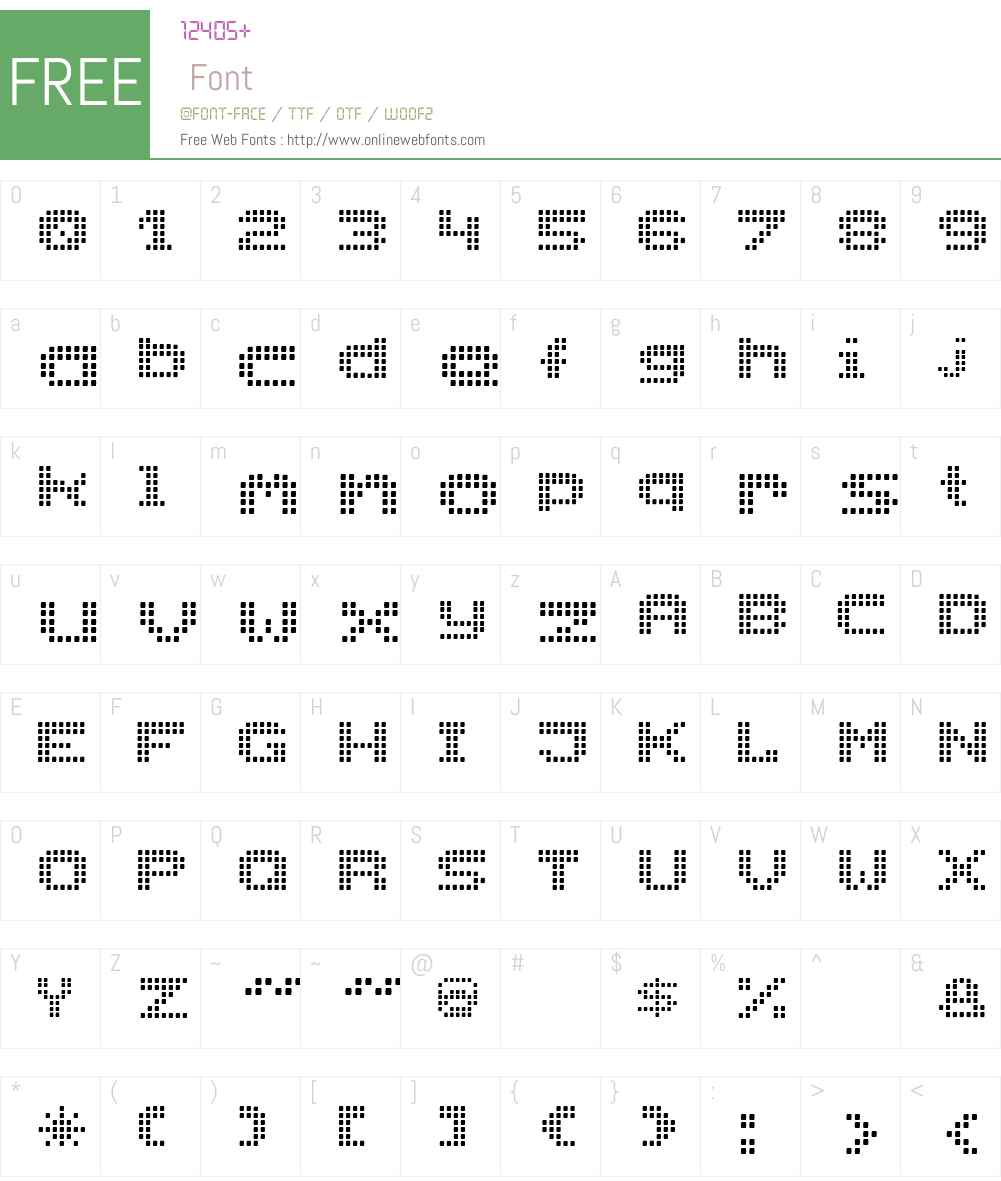 RollerBlindNormal Font Screenshots