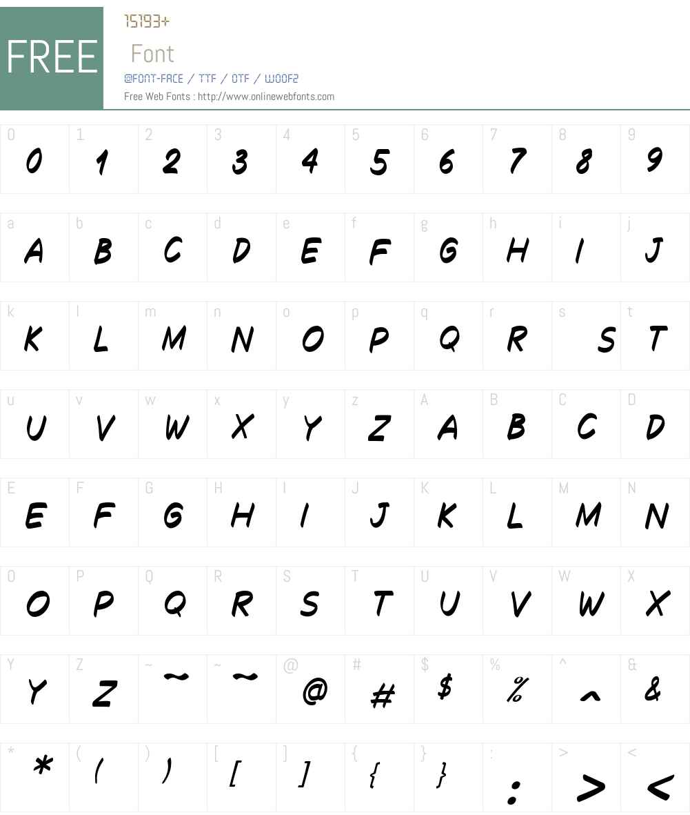 Decalk Font Screenshots