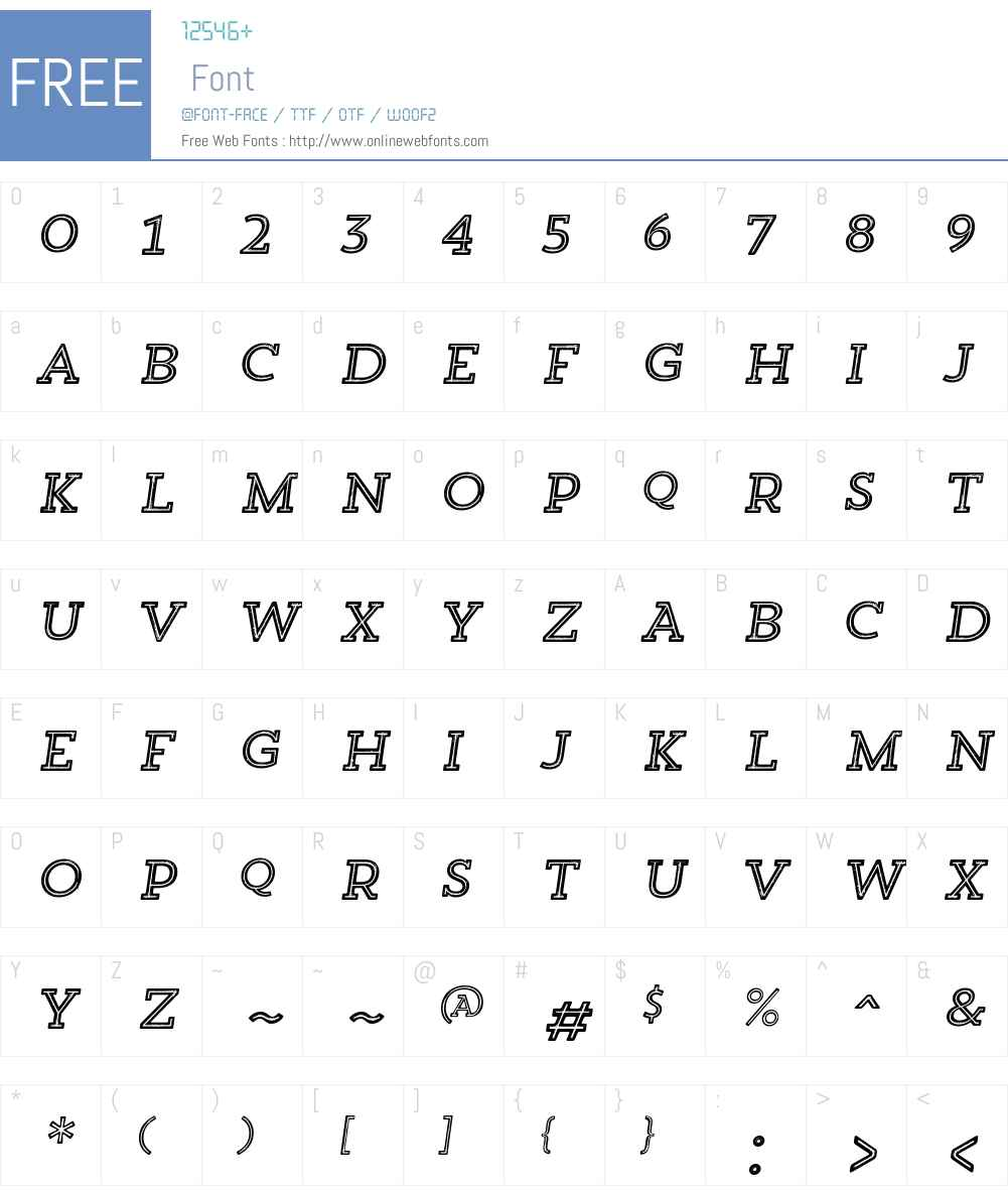 TrendRoughSlabW00-FiveIt Font Screenshots