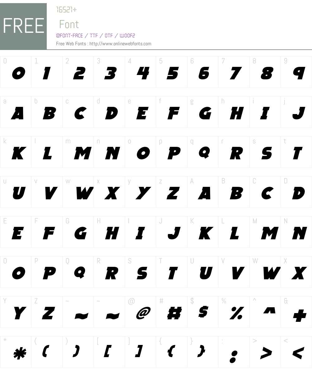 Megalopolis X Font Screenshots