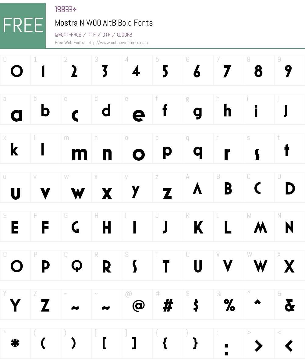 MostraNW00-AltBBold Font Screenshots