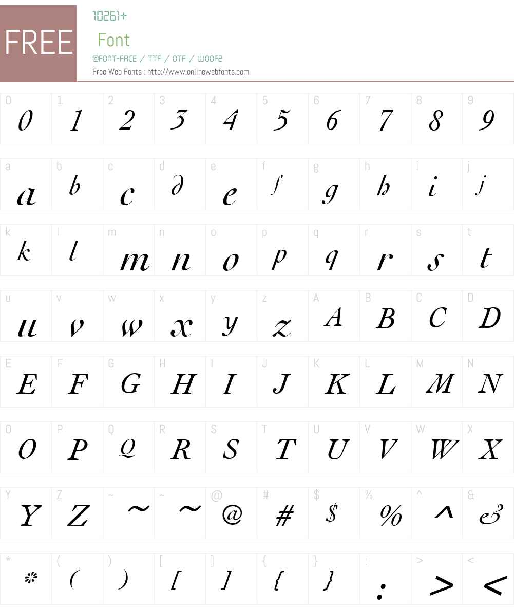 URWCochinW01-RomanItalic Font Screenshots