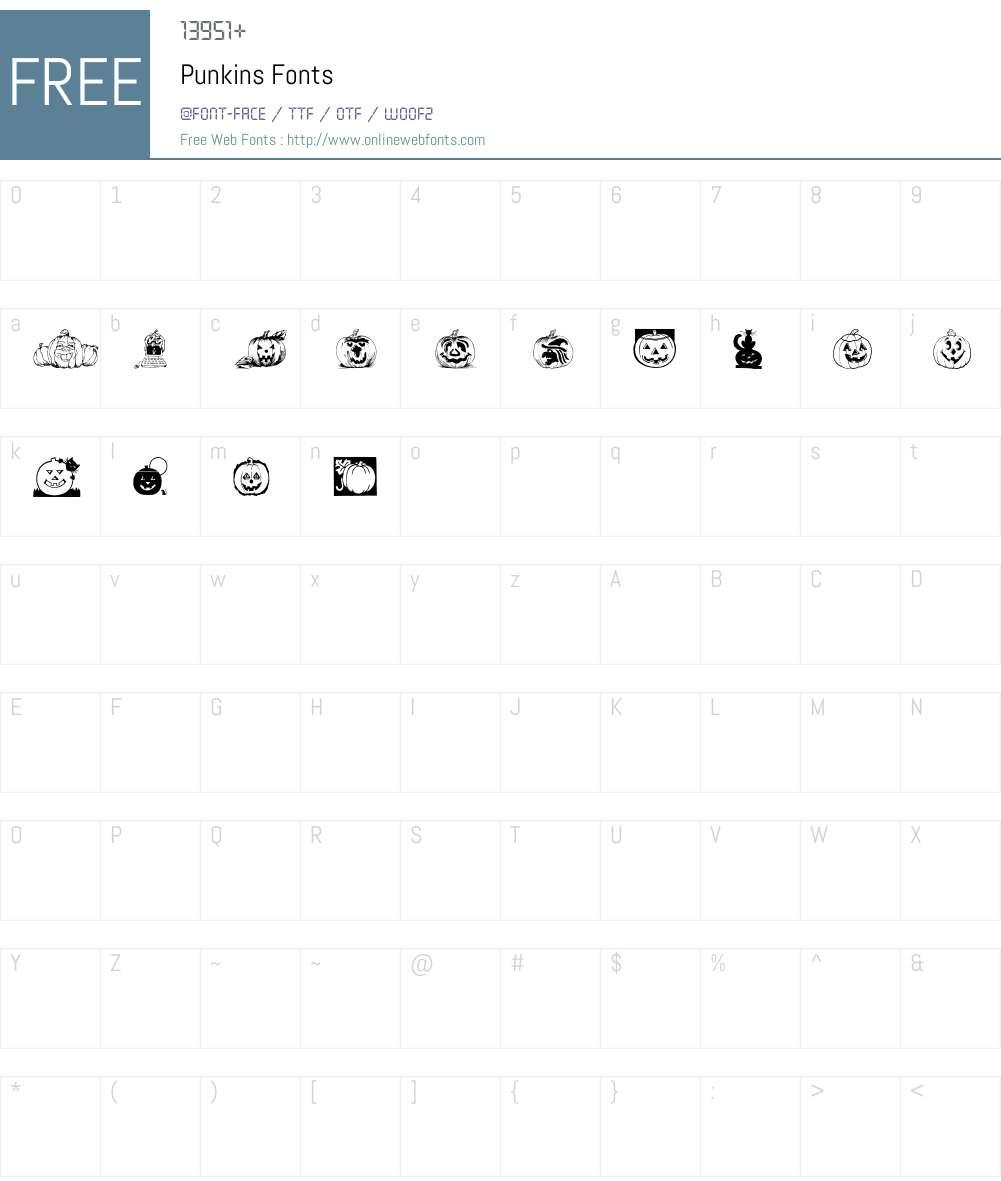 Punkins Font Screenshots