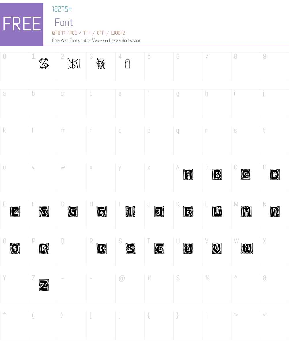 KinigsteinKaps Font Screenshots