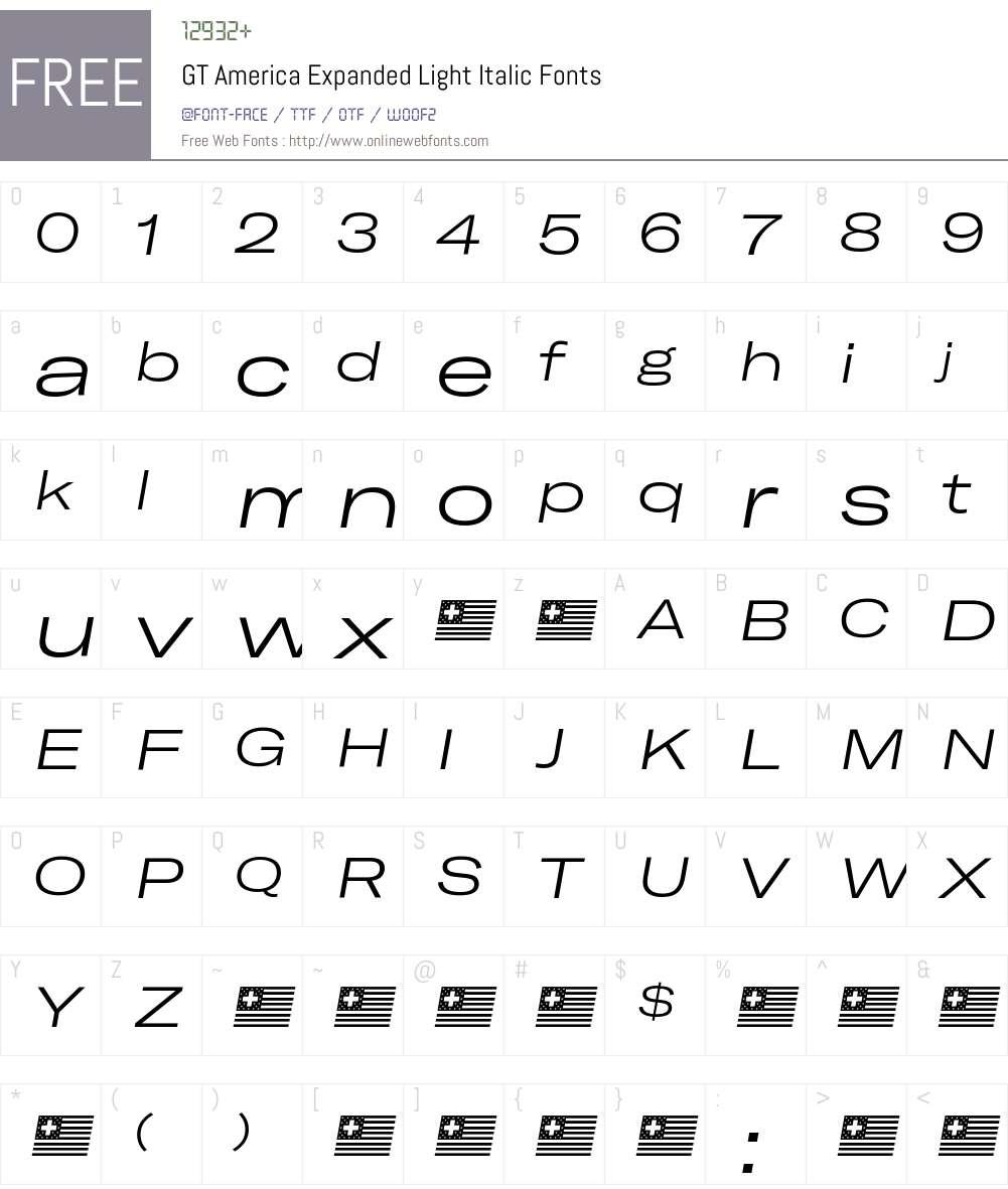 GT America Expanded Light Font Screenshots