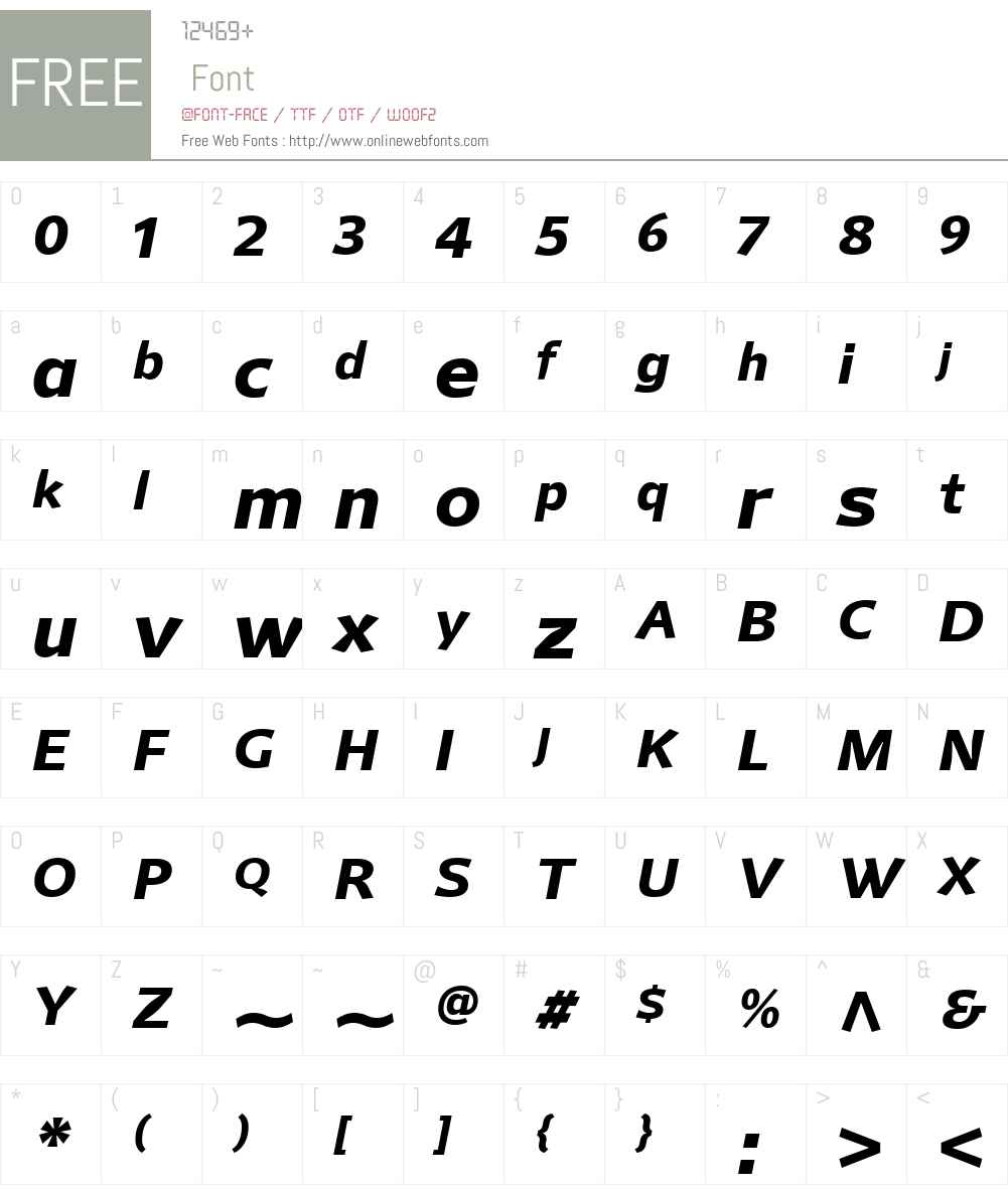 MellnikW01-BoldItalic Font Screenshots