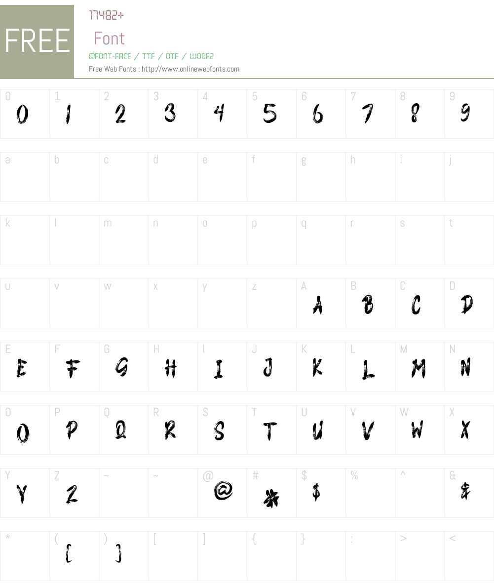 PARASITE Font Screenshots