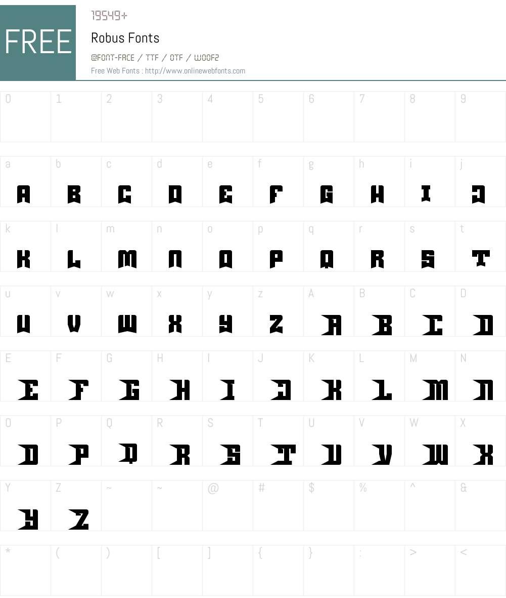 Robus Font Screenshots