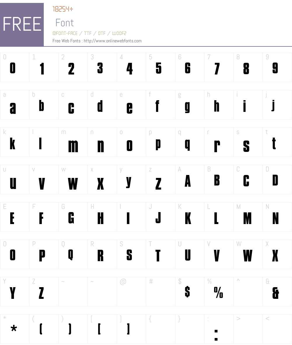 CompactaEF Font Screenshots