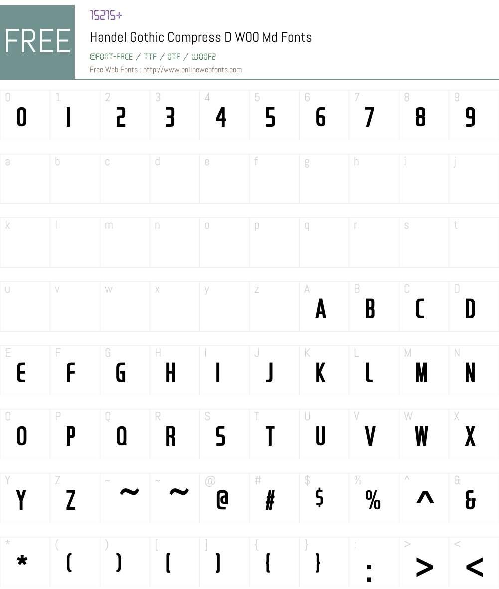 HandelGothicCompressDW-Md Font Screenshots