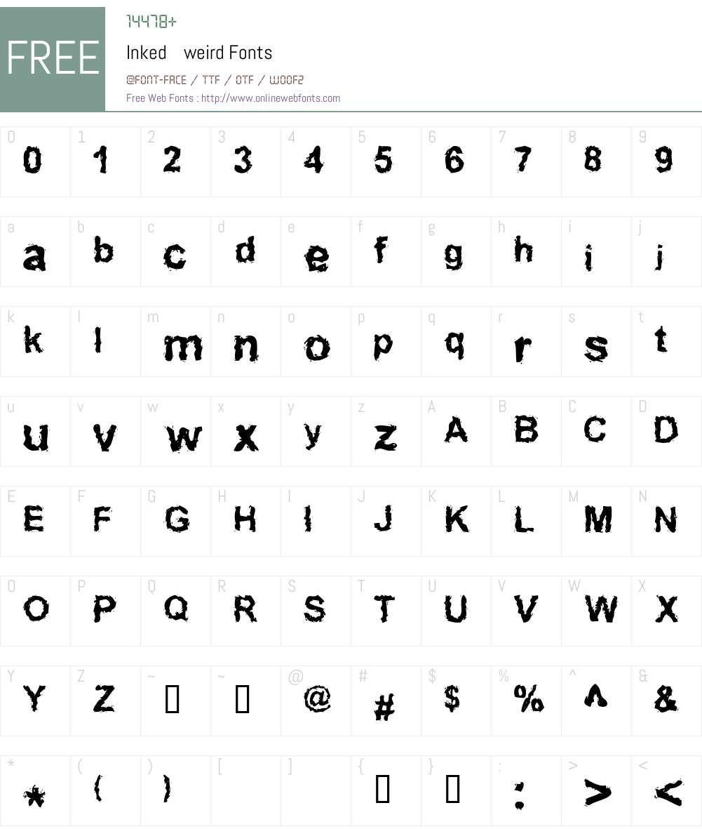 Inked Font Screenshots