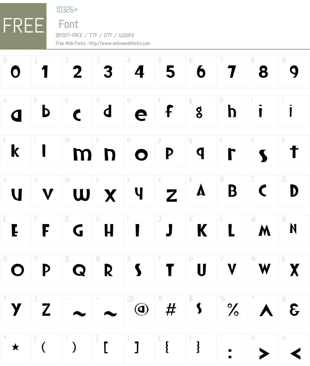 YachtW01-Light Font Screenshots