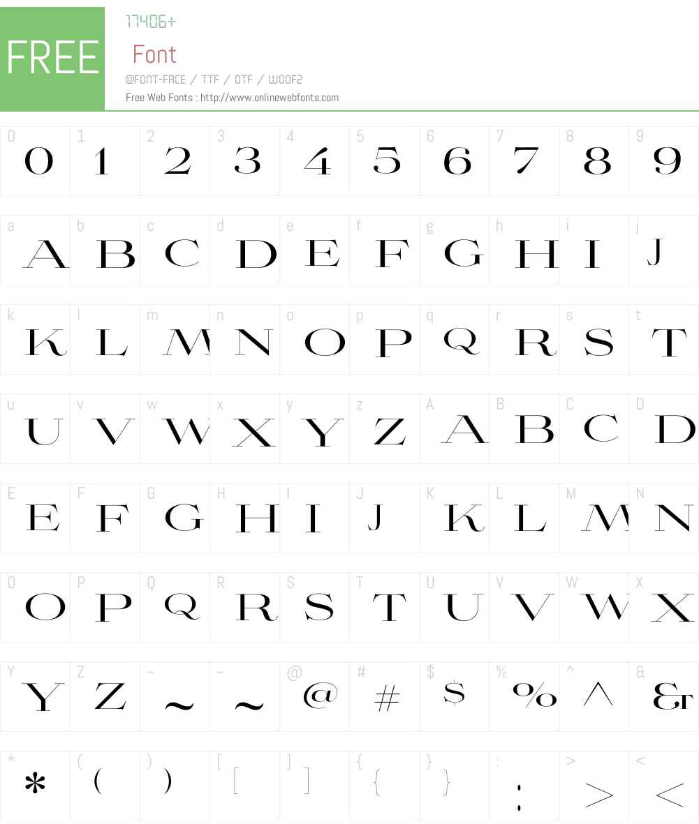 Aviano Didone Regular Font Screenshots