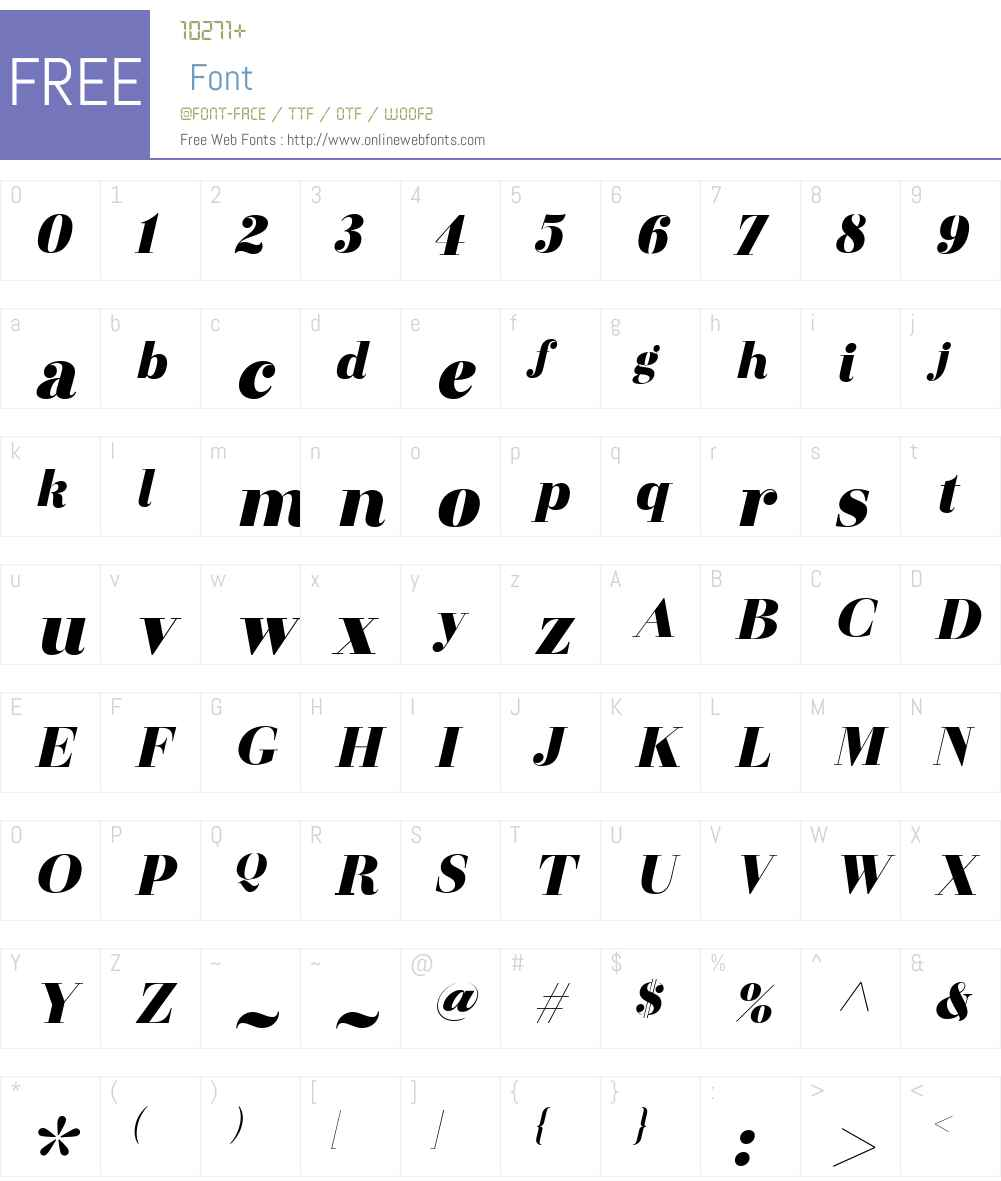 OtamaDisplayW00-UltBlackIt Font Screenshots