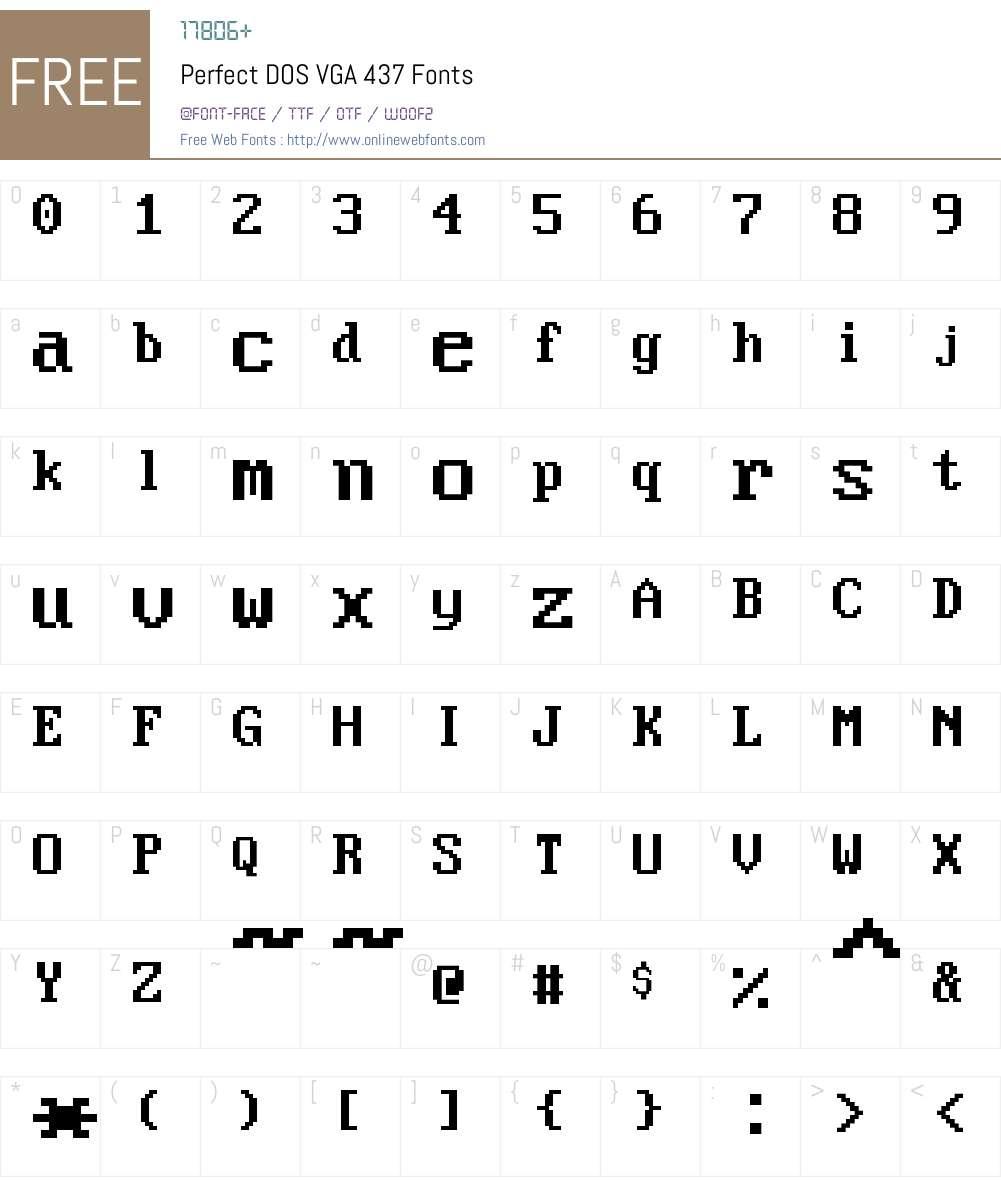 Perfect DOS VGA 437 Font Screenshots
