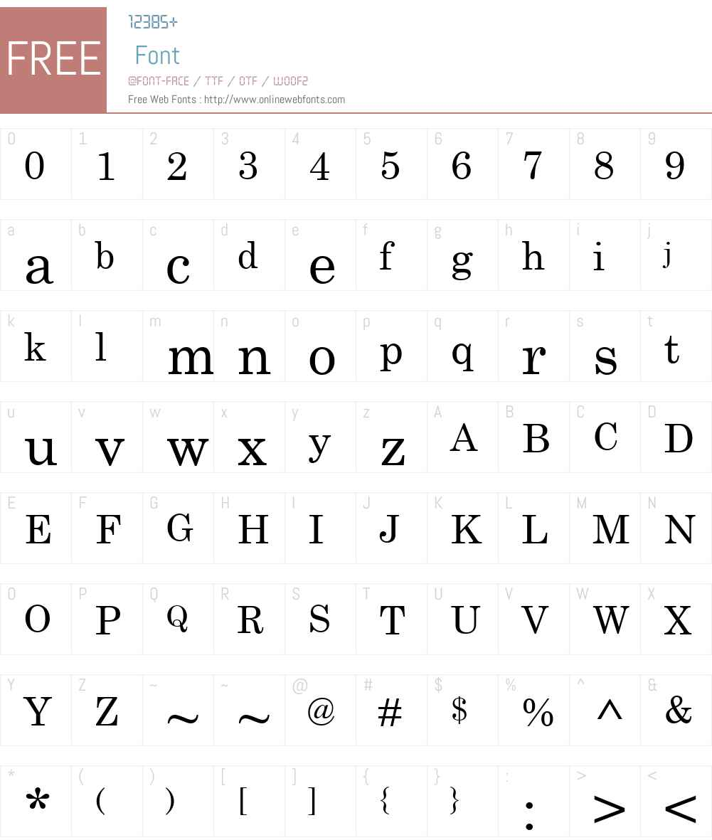 Century Schoolbook Font Screenshots