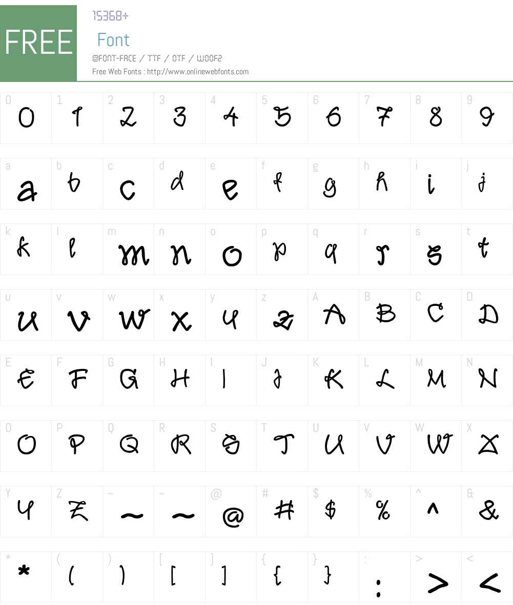 Liaison Font Screenshots