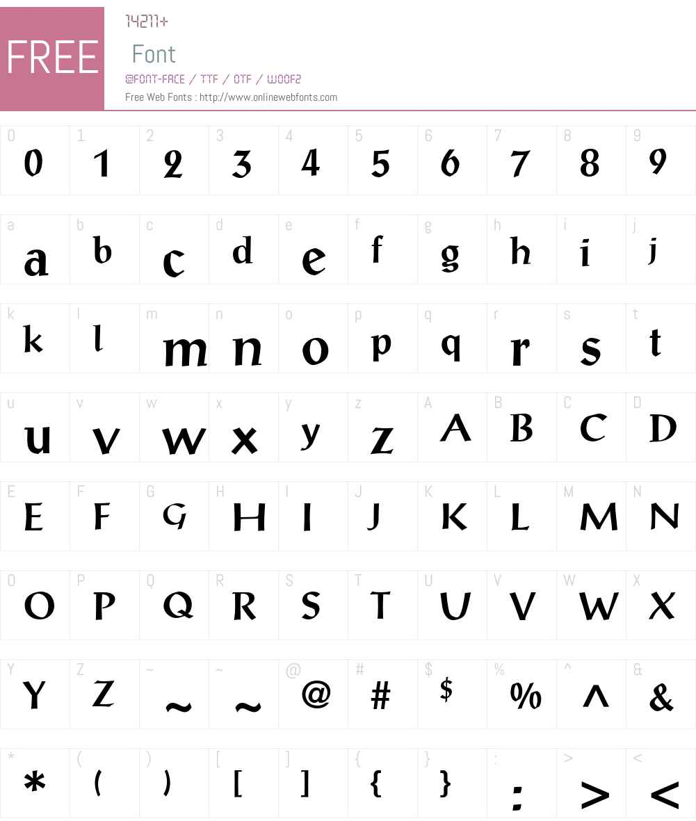 ProseAntique Font Screenshots