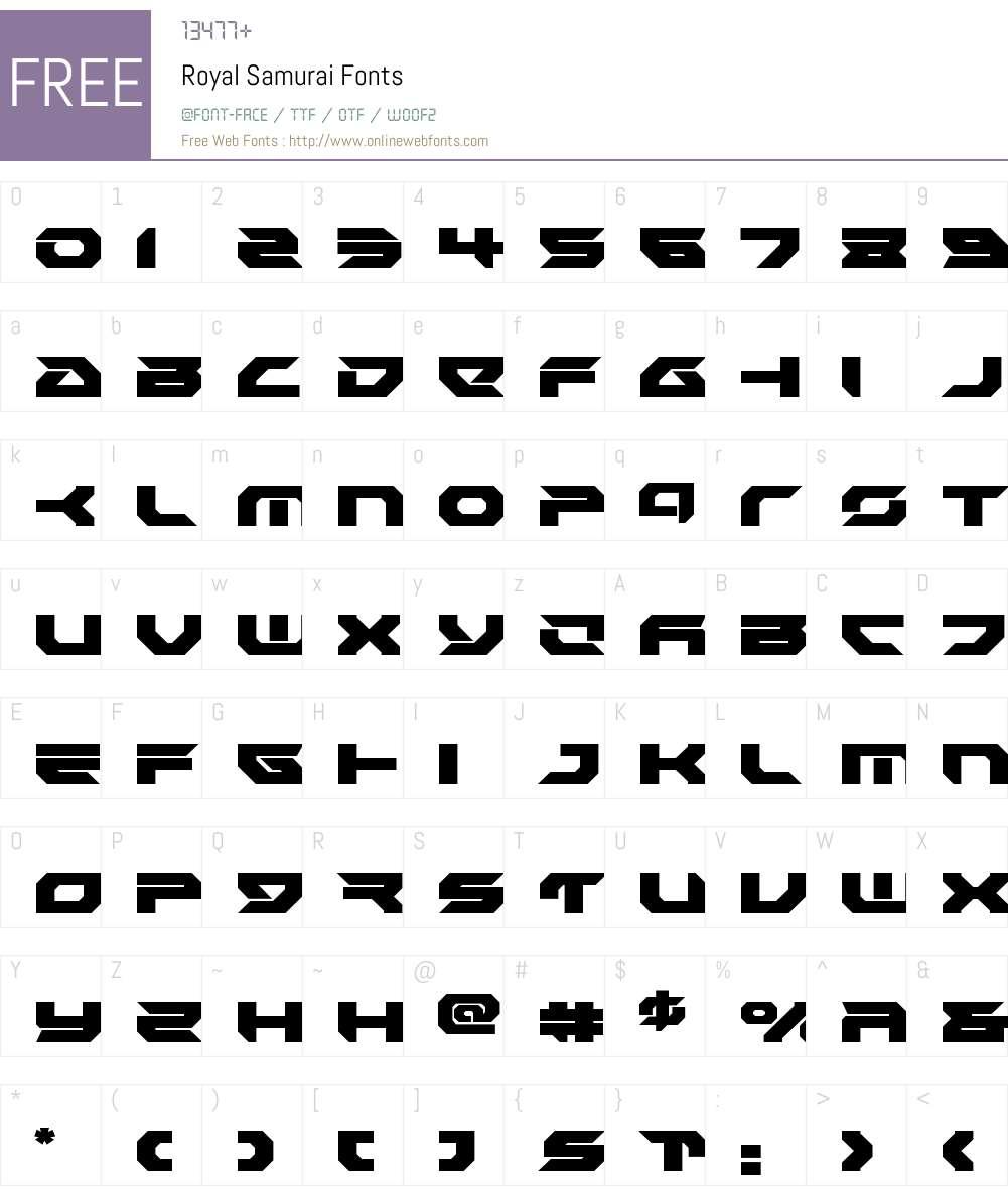 Royal Samurai Font Screenshots