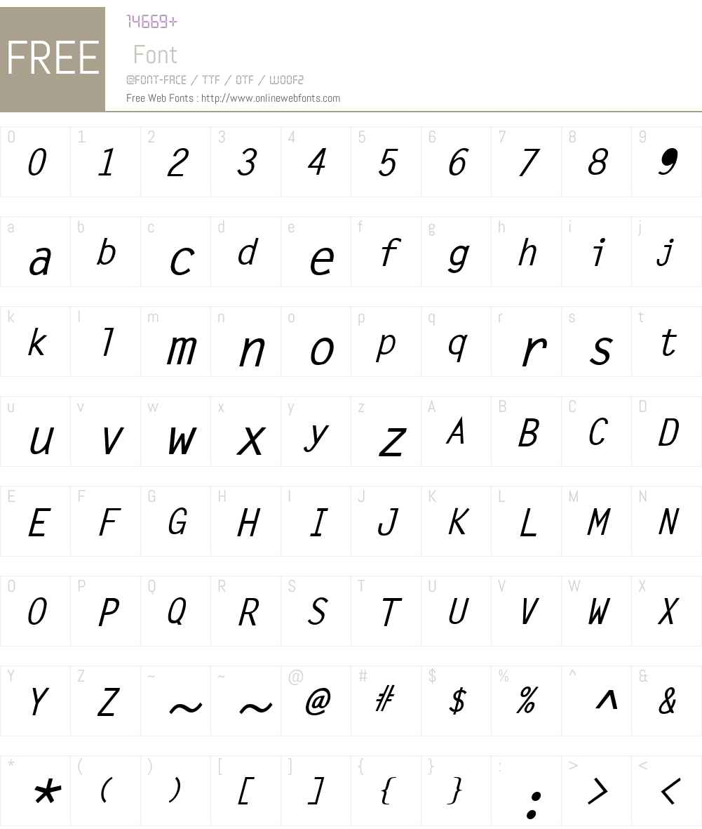 Letter Gothic Font Screenshots