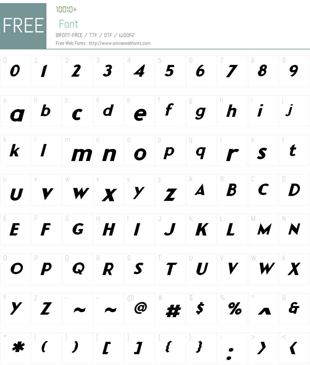 CCRocketManSecondStage-Italic Font Screenshots