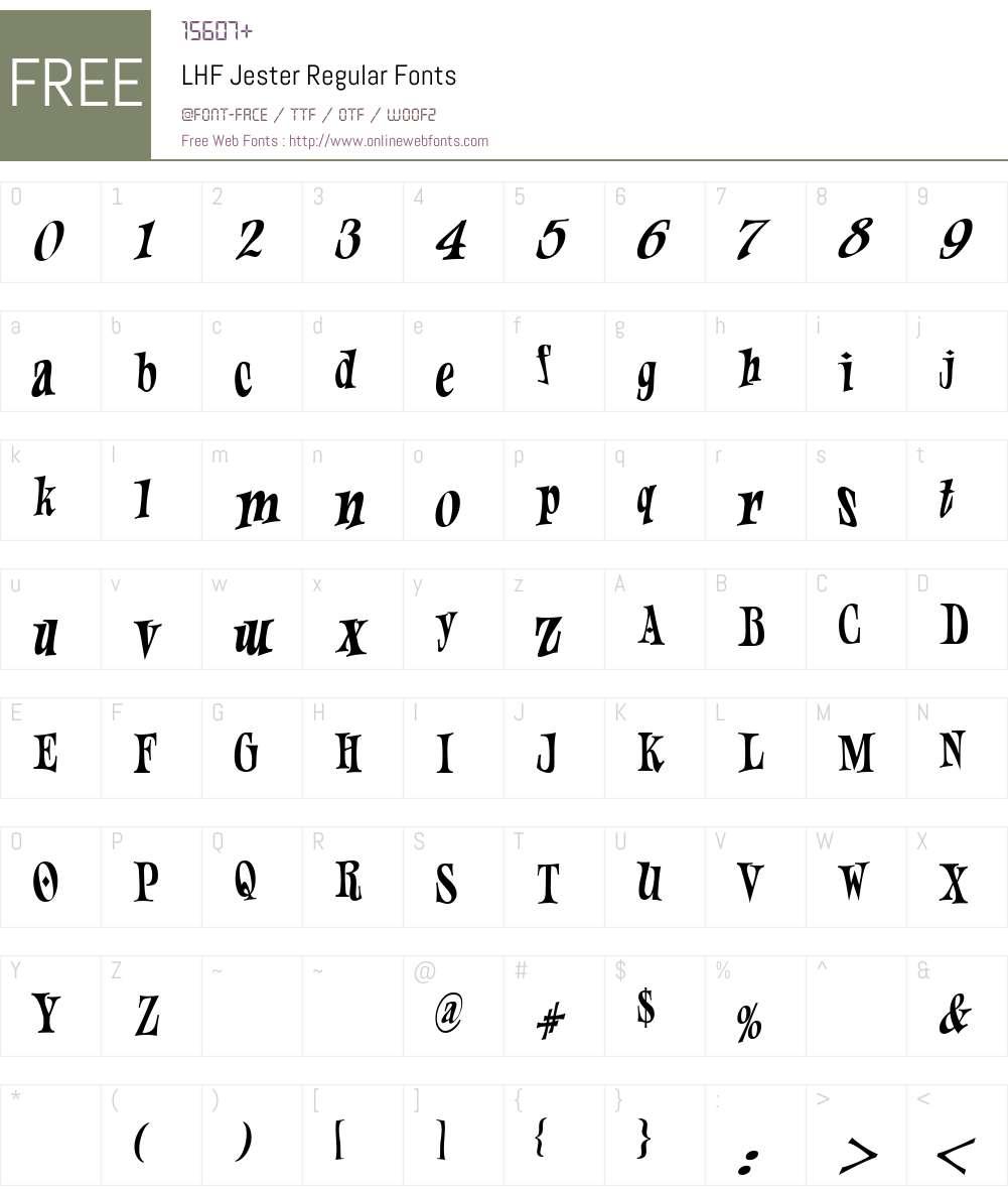 LHF Jester Regular Font Screenshots