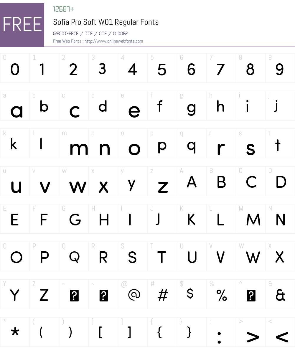 SofiaProSoftW01-Regular Font Screenshots