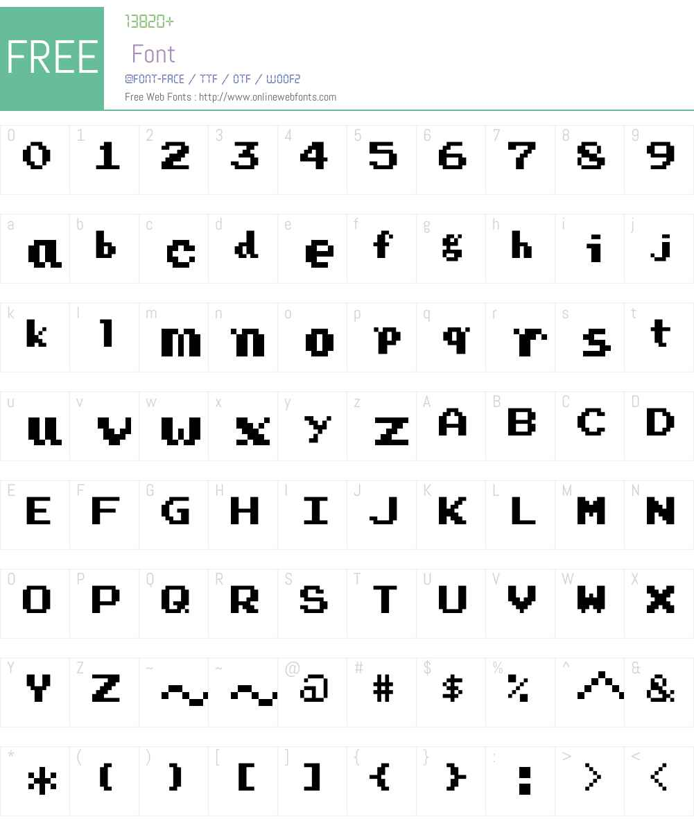 Press Start Font Screenshots