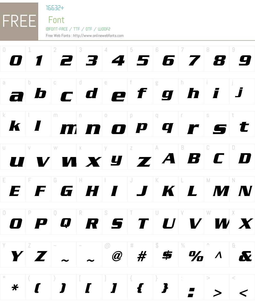 SerpentineICG Font Screenshots