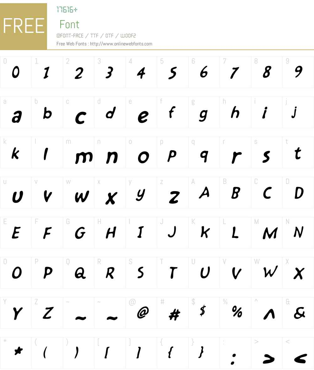 Kairengu Oblique Font Screenshots
