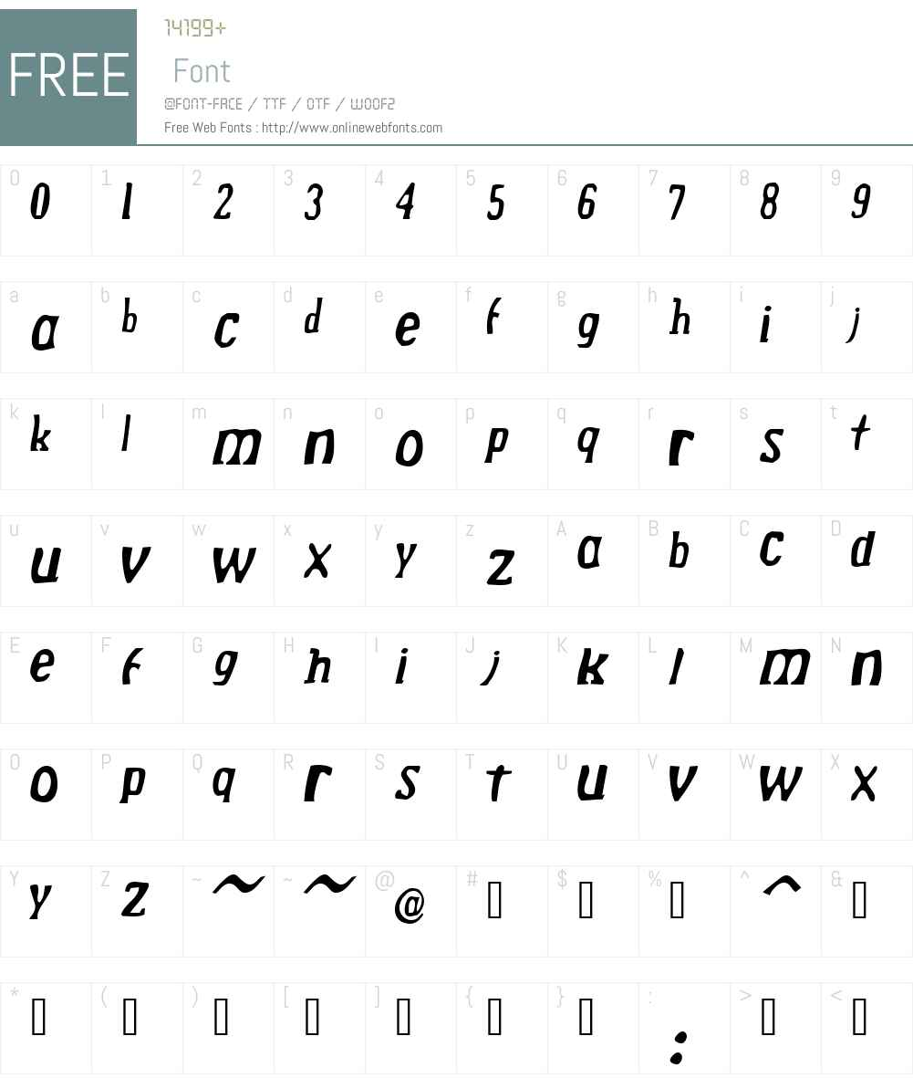 Drek Font Screenshots