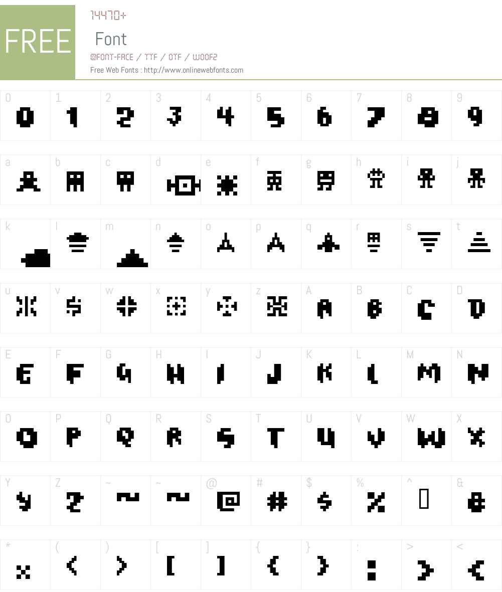 Oxygene 1 Font Screenshots