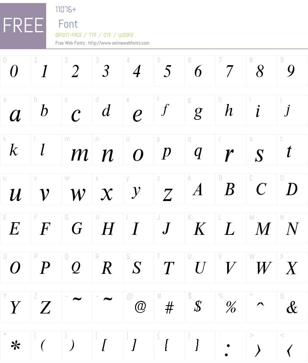 ThamesSerial Font Screenshots