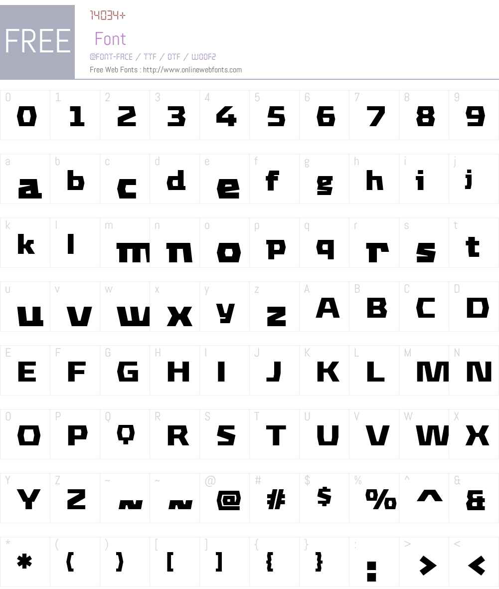 FF Mach Font Screenshots